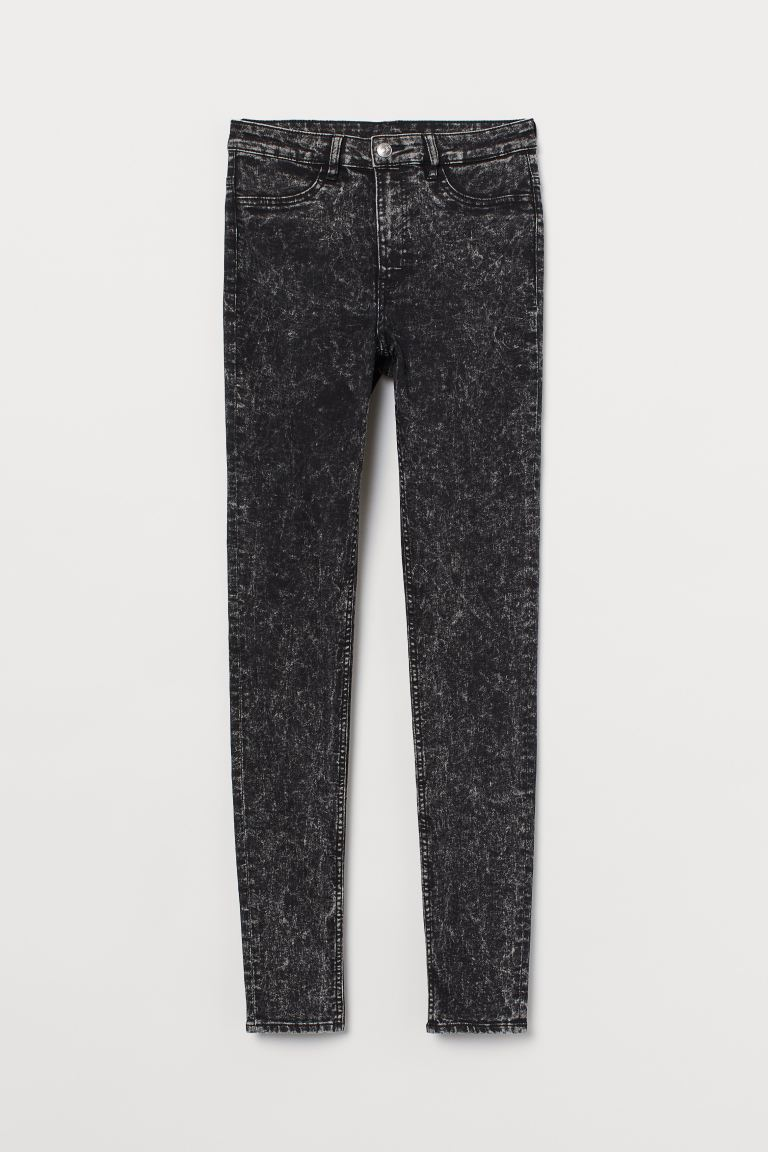 Super Skinny High Jeans - Nero/washed - DONNA | H&M IT