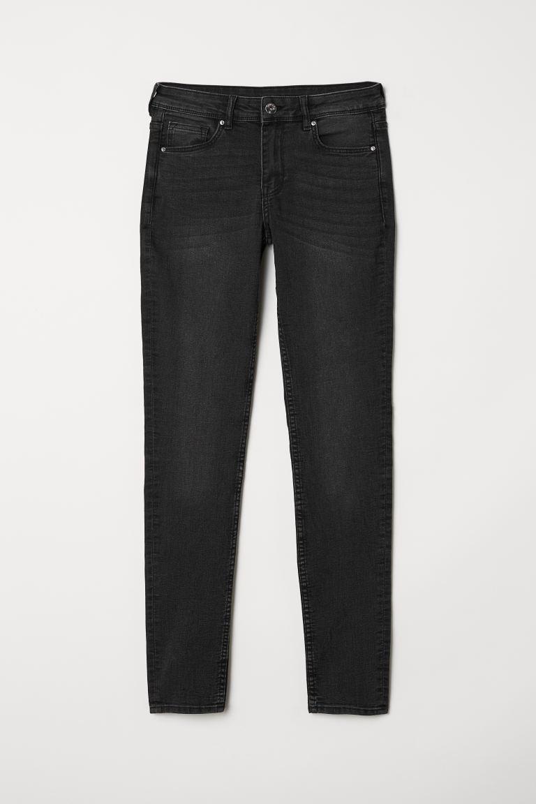 Super Skinny Regular Jeans - Dark grey denim - Ladies | H&M GB