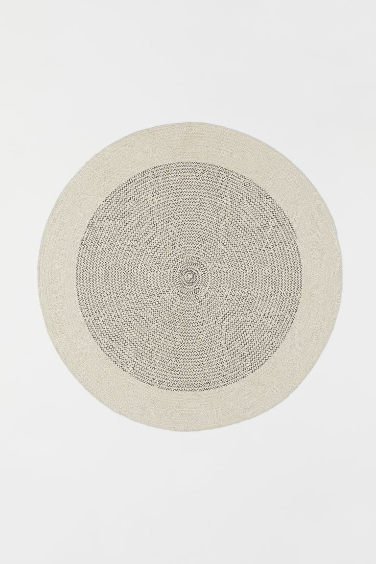 Round jute rug - Natural white - Home All | H&M GB