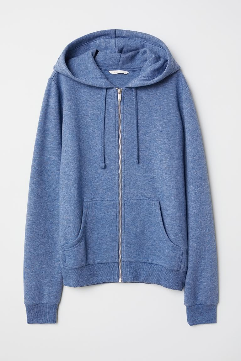 Hooded jacket - Blue marl - Ladies | H&M