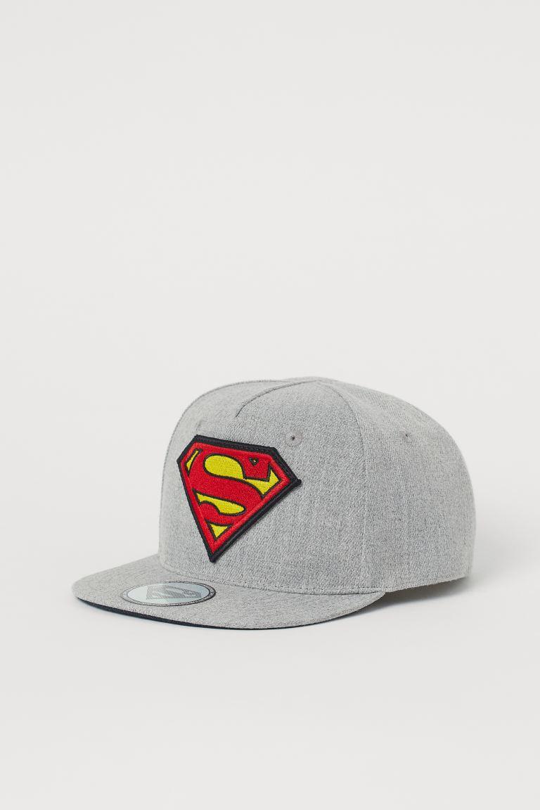 Motif-detail cap - Light grey/Superman - Kids | H&M GB