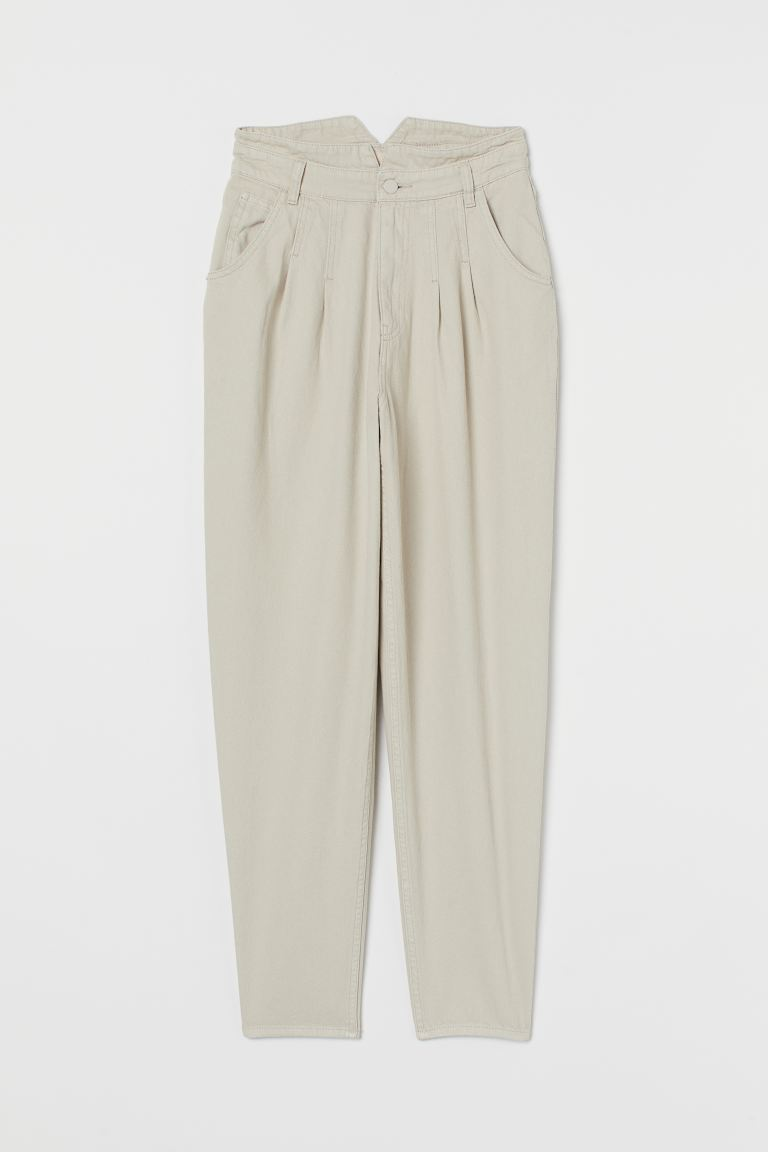 Tapered High Jeans - Beige clair - FEMME | H&M FR