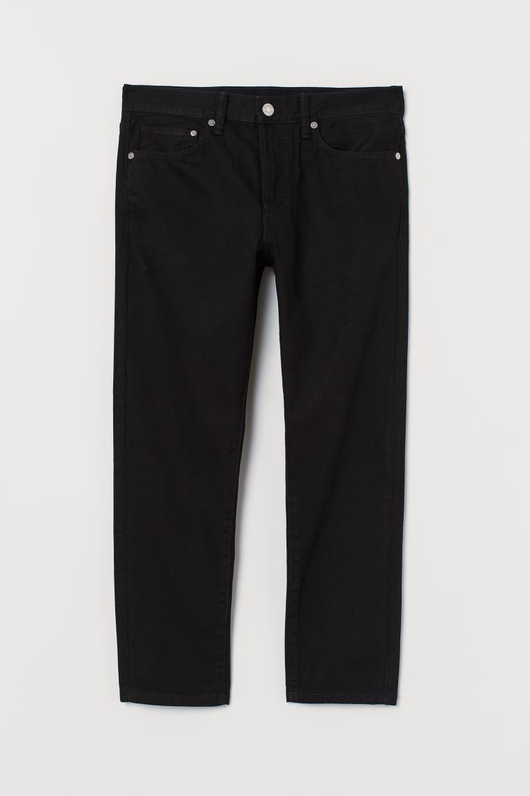 Slim Straight Cropped Jeans - Schwarz - Men | H&M AT