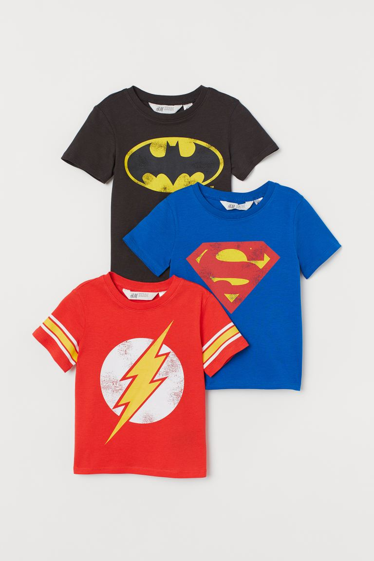 T-shirt con stampa, 3 pz - Neor/Justice League - BAMBINO | H&M IT