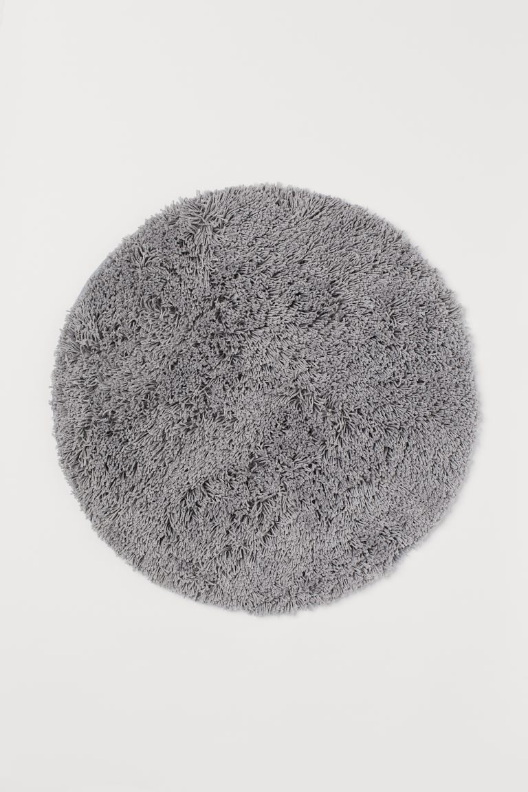 Deep pile bath mat - Light grey - Home All | H&M GB