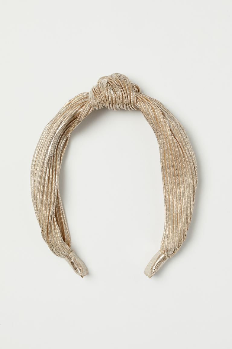 Hairband with Knot Detail - Gold-colored - Ladies | H&M US