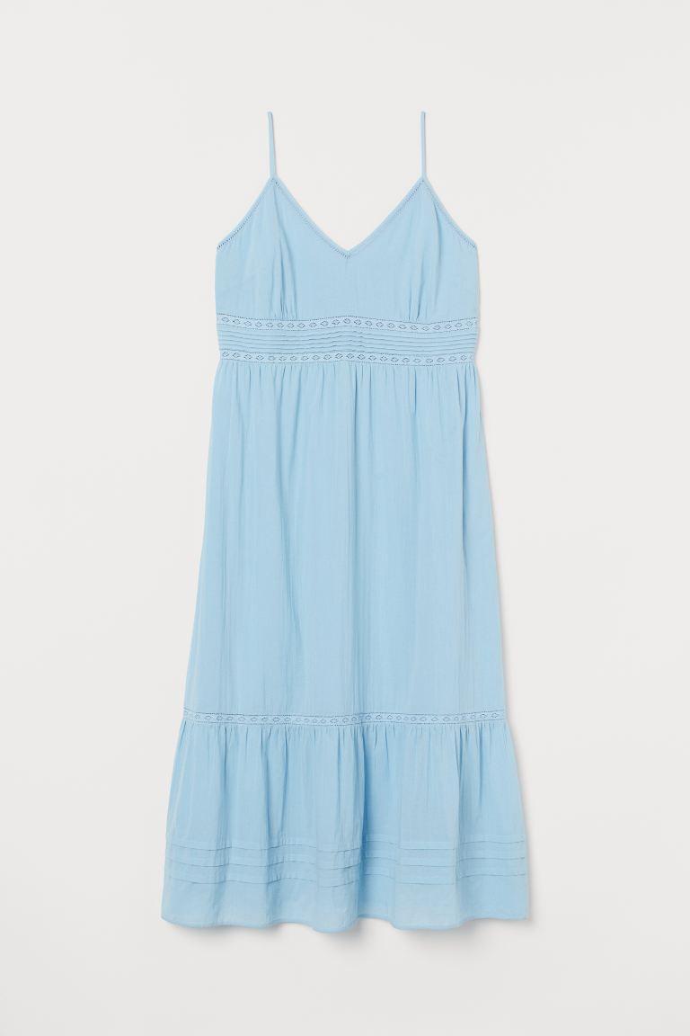 H&M+ Langes Kleid mit Spitze