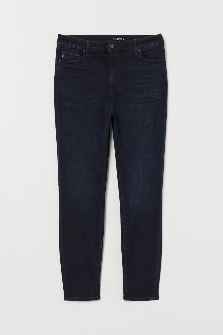 H&M+ Shaping High Jeans - Dark blue - Ladies | H&M IE