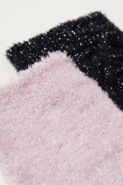 bästsäljare äkta kvalitet äkta skor 2-pack glittriga strumpor - Rosa/Svart - DAM | H&M SE