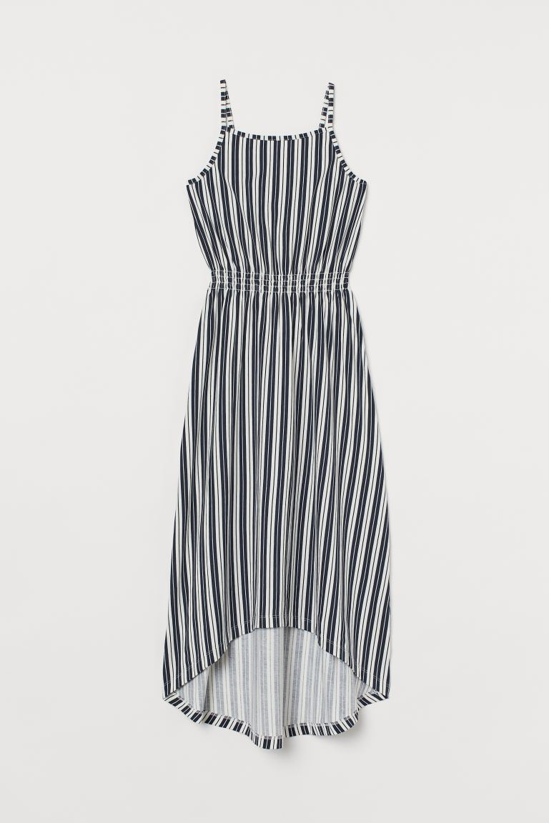 Onwijs Katoenen maxi-jurk - Donkerblauw/gestreept - KINDEREN | H&M NL LN-71