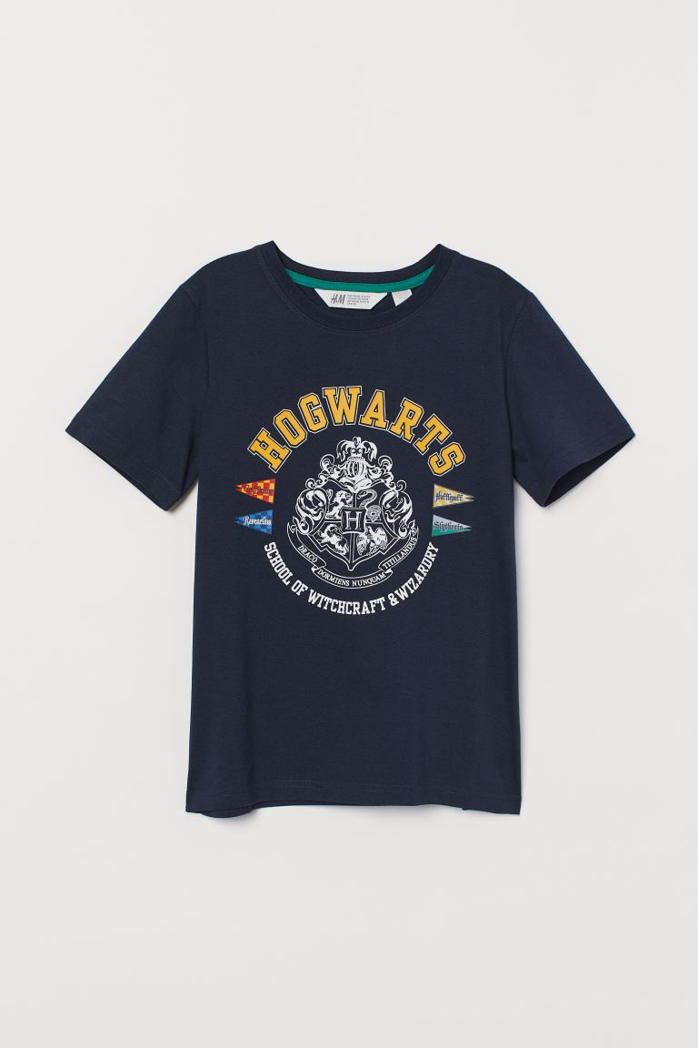 T-shirt med motiv - Mörkblå/Harry Potter - BARN | H&M SE