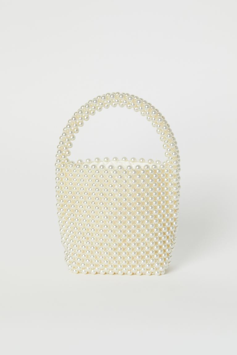 Beaded Handbag - White - Ladies | H&M US