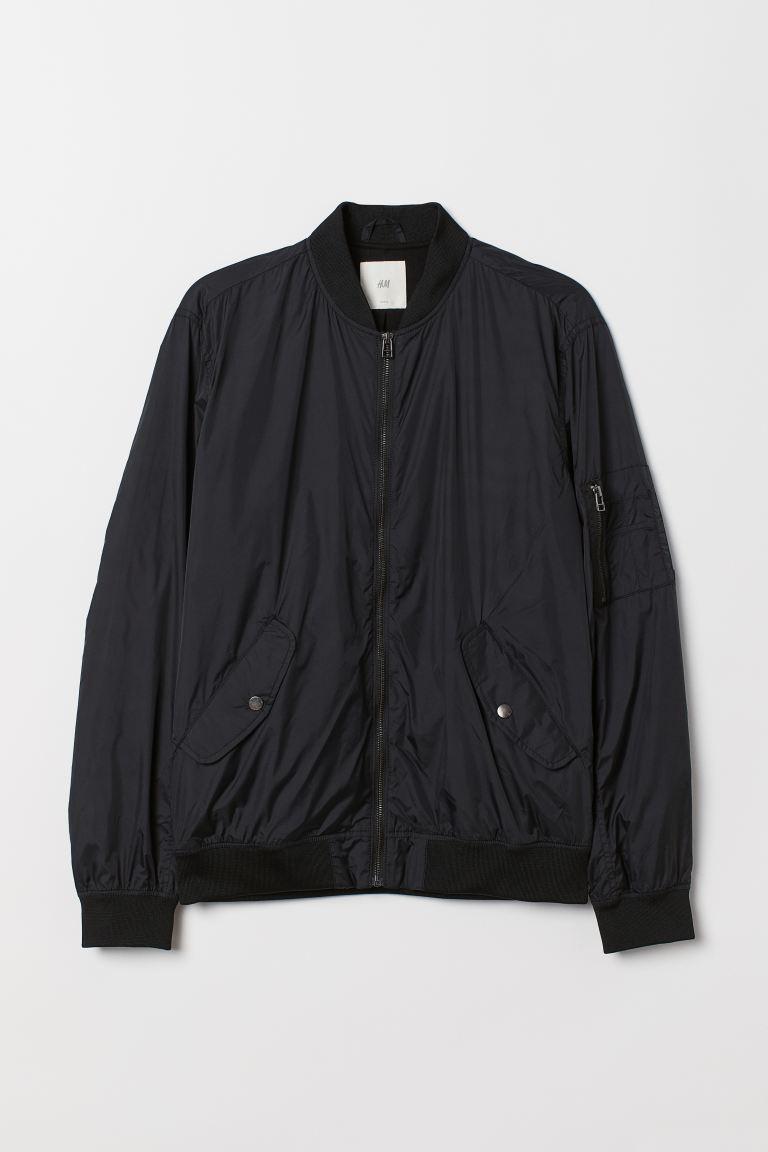 Nylon bomber jacket - Black - Men   H&M GB
