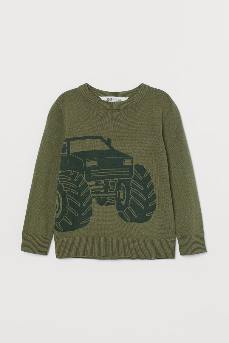 Feinstrickpullover - Grün/Monstertruck - Kids | H&M AT