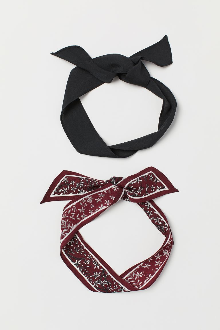 2-pack hairbands - Black/Floral - Ladies | H&M GB