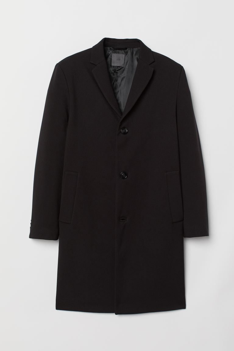 Viscose-blend Coat - Black - Men | H&M US