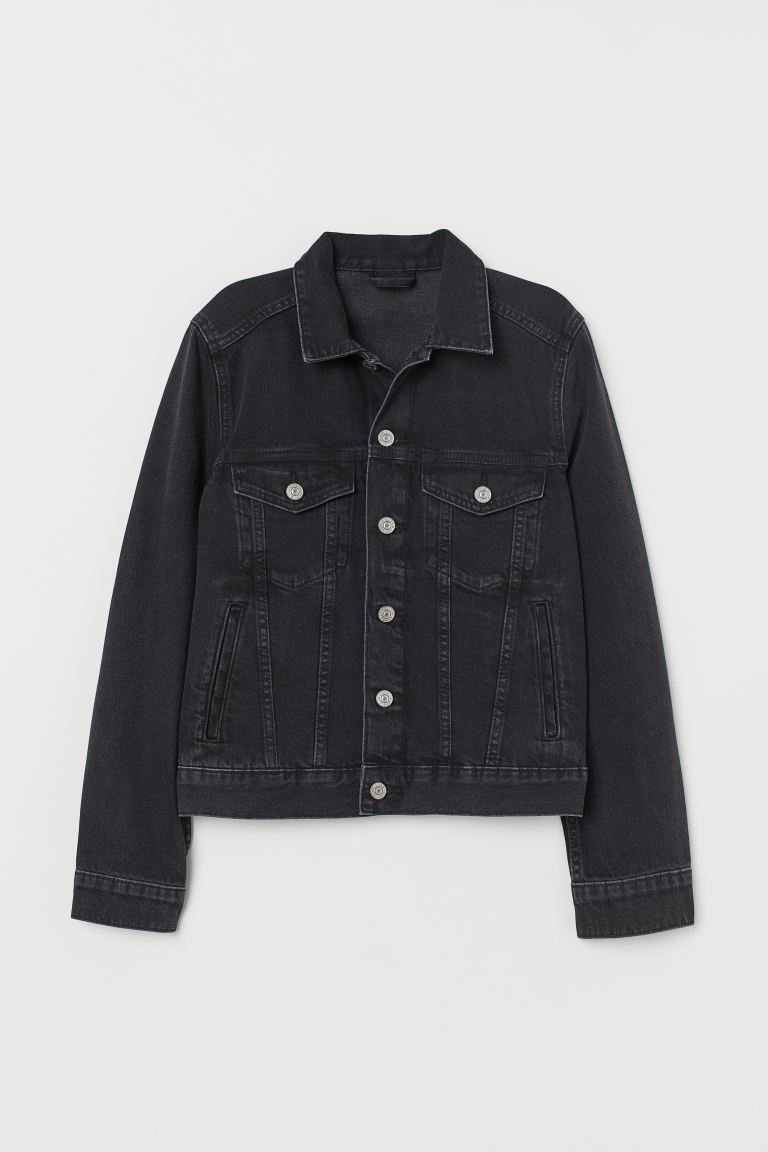 Denim jacket - Black - Ladies | H&M GB