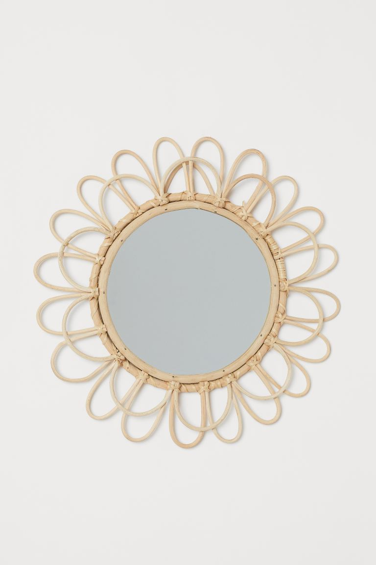 Mirror with Bamboo Frame - Beige/Bamboo - Home All | H&M CA