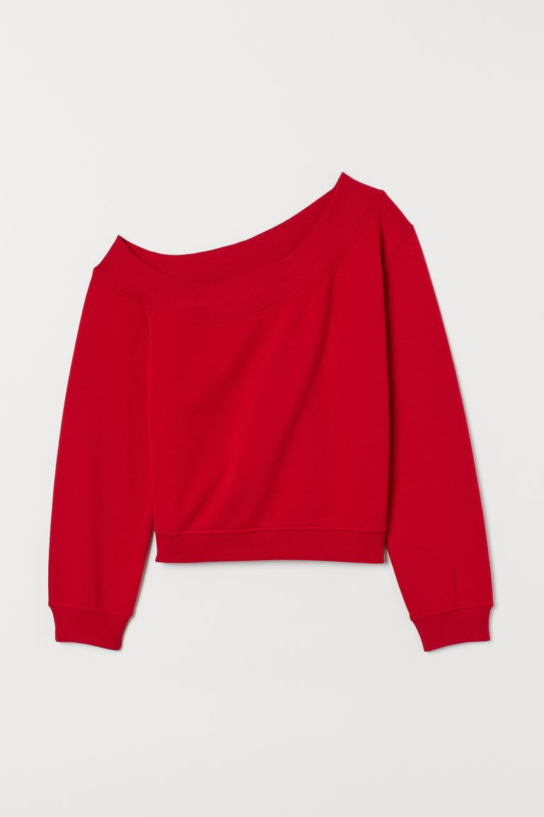 One-shoulder Top - Red - Ladies | H&M US