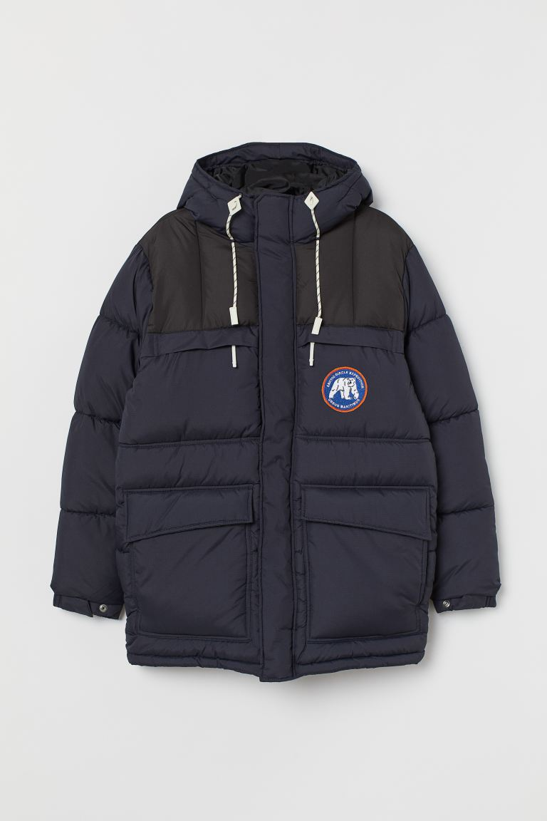 Padded jacket - Dark blue - Men | H&M GB