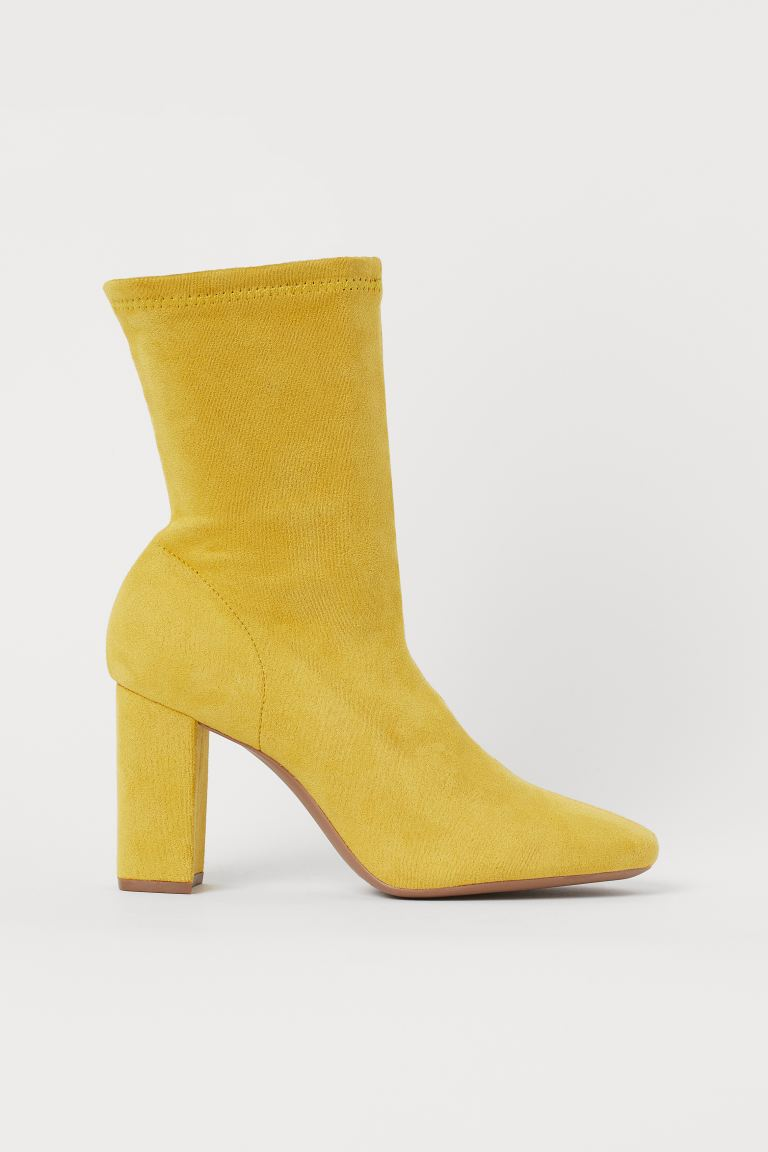 Sock Boots - Yellow - Ladies | H&M US