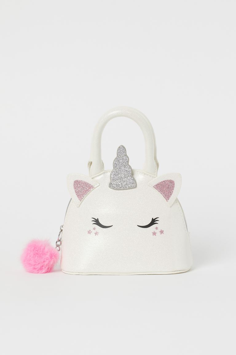 Glittery handbag - White/Unicorn -  | H&M GB