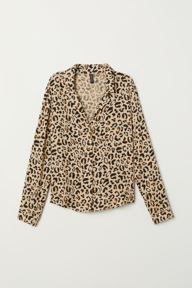 salvare 11238 97d2d Camicia fantasia - Beige/leopardato - DONNA | H&M IT