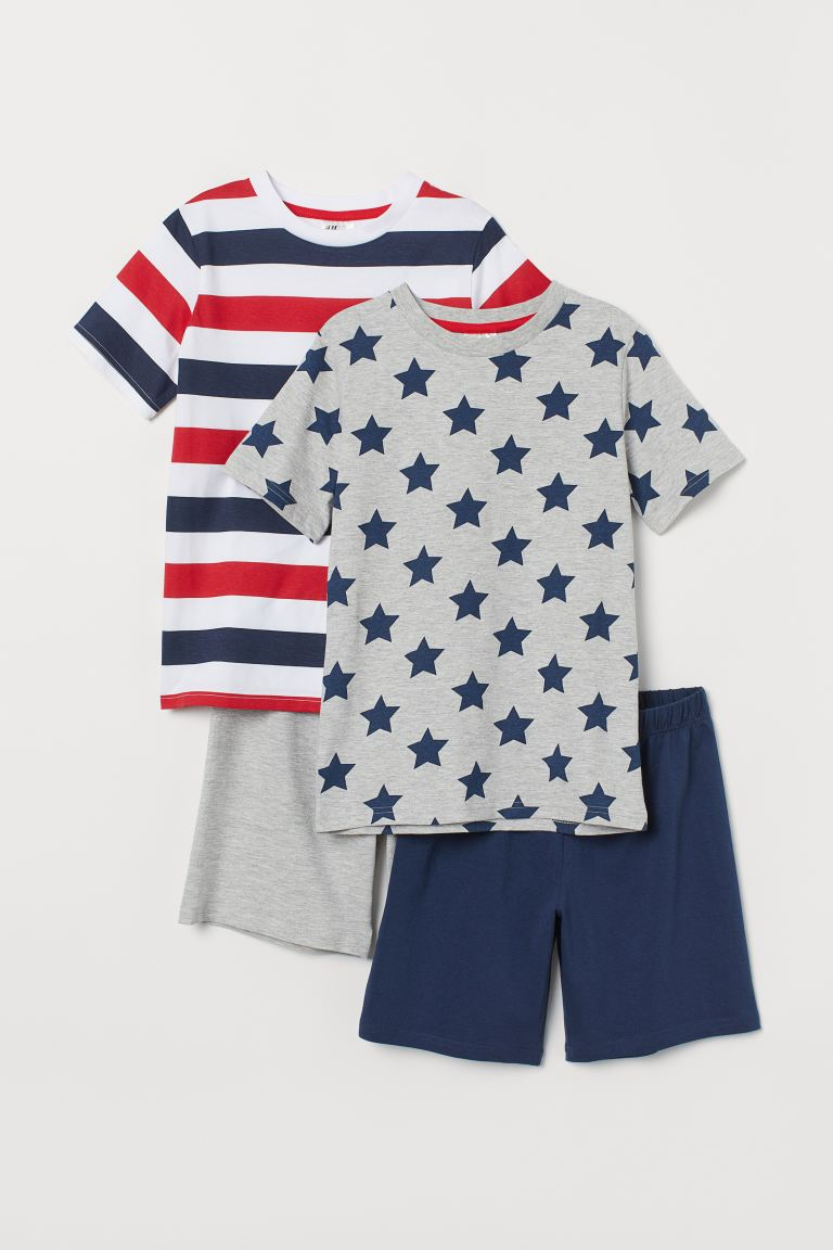 2-pack jersey pyjamas - Dark blue/Stars - Kids | H&M
