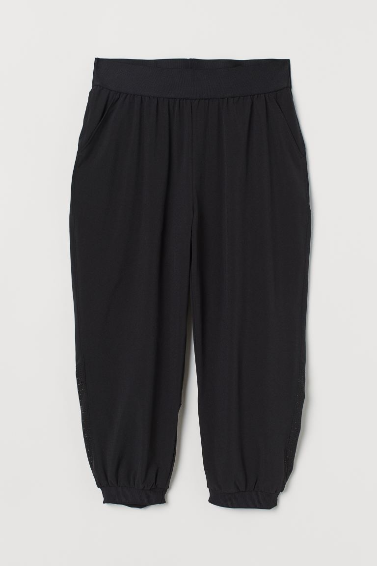 3/4-length sports trousers - Black - Ladies | H&M