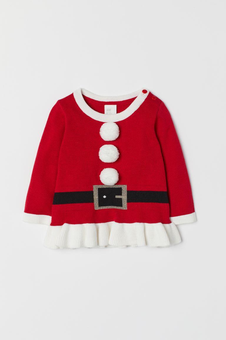 bra passform skor för billiga grossist online Stickad jultröja - Röd/Jultomte - BARN   H&M SE