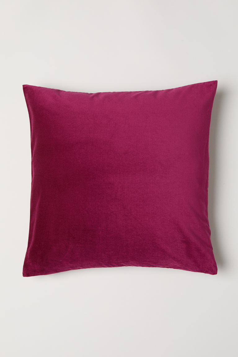 Copricuscino in velluto - Rosa scuro - HOME | H&M IT