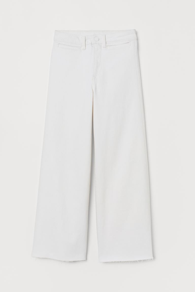 Culotte High Ankle Jeans - Cream - Ladies | H&M CA