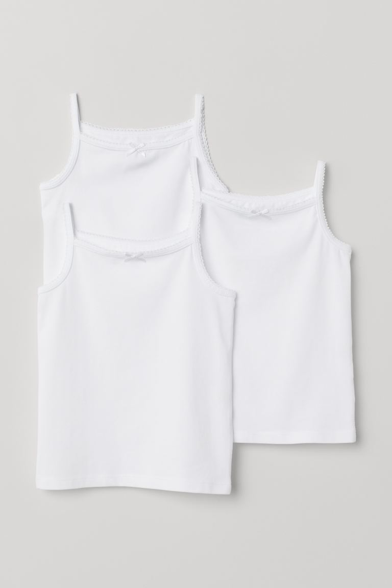 3-pack jersey vest tops - White - Kids | H&M