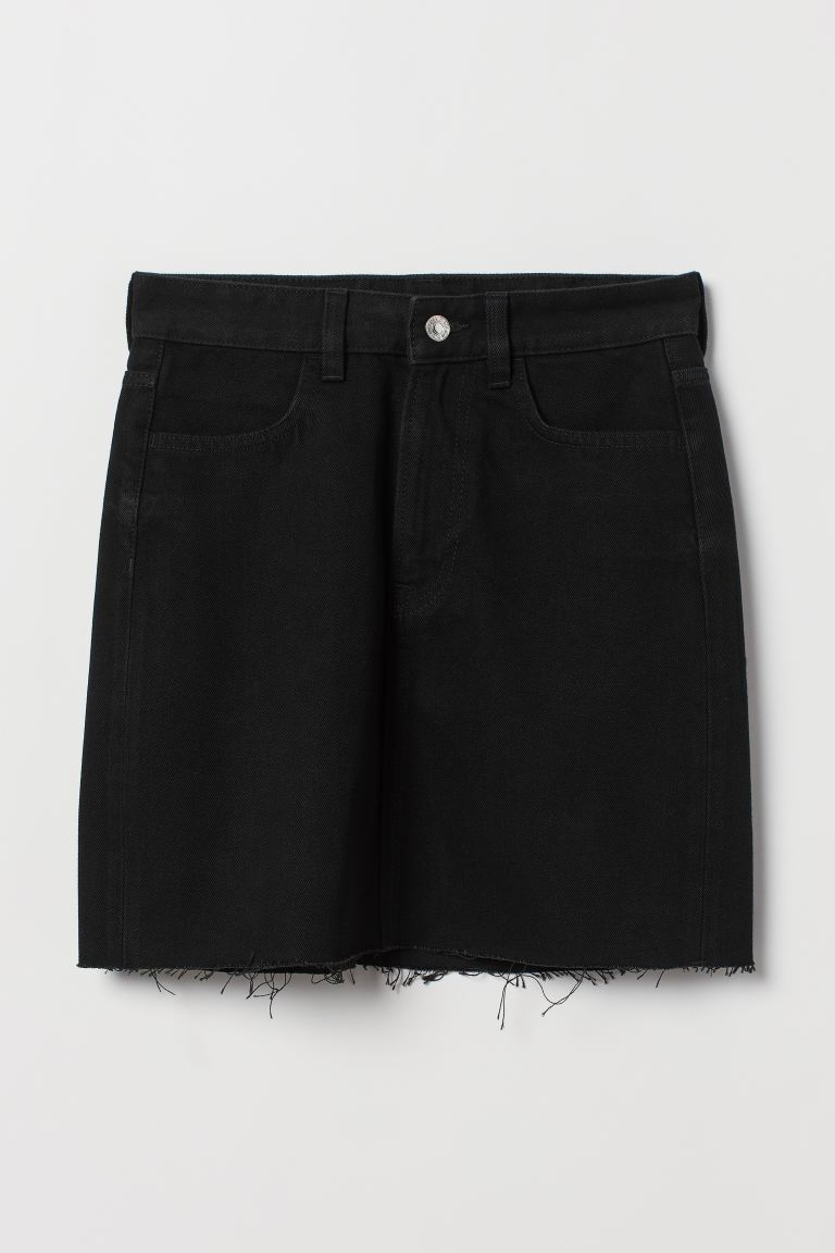 Denim skirt - Black - Ladies   H&M GB