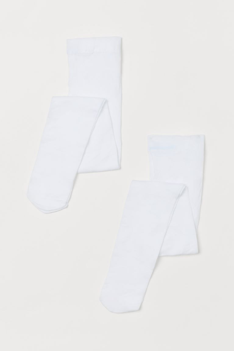 2-pack thin tights - White/White -  | H&M IE