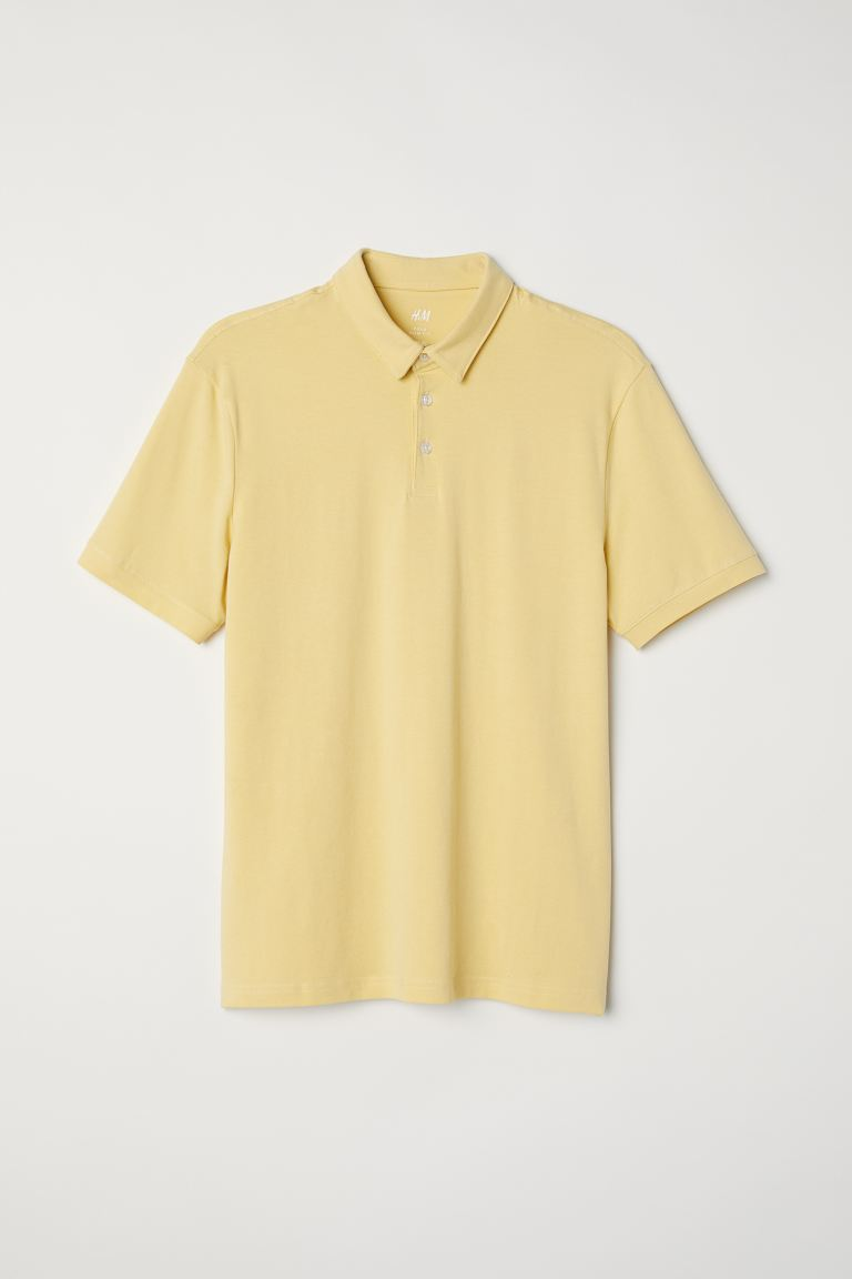 Polo shirt Slim Fit - Light yellow - Men | H&M GB