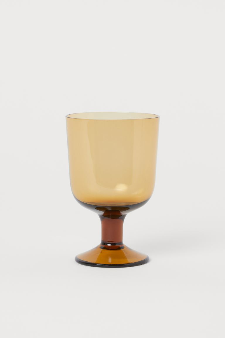 Wine Glass - Brown - Home All | H&M US