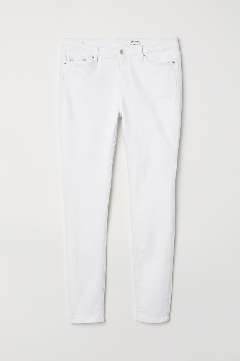 H&M+ Shaping Skinny Jeans - White - Ladies | H&M IN