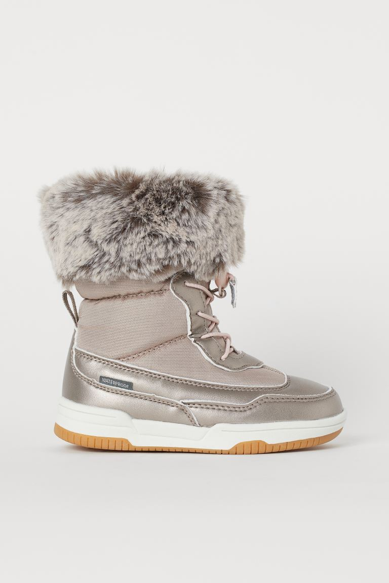 Waterproof boots - Light pink/Metallic - Kids   H&M GB