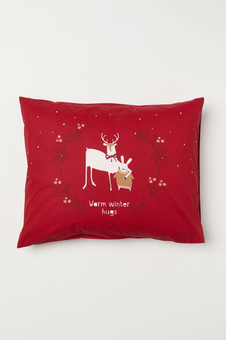 Pillowcase - Red/Animal motif - Home All | H&M IE