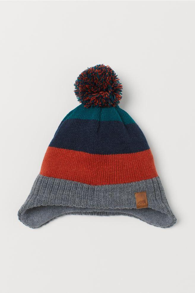 Fleece-lined hat