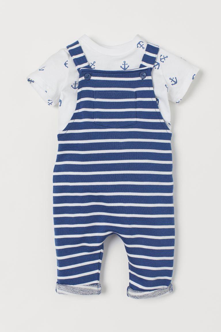 2-piece cotton set - Blue/Anchors - Kids | H&M GB
