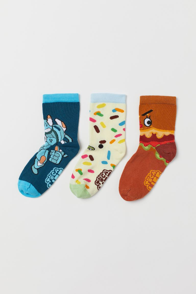 3-pack Socks - Dark turquoise - Kids | H&M US