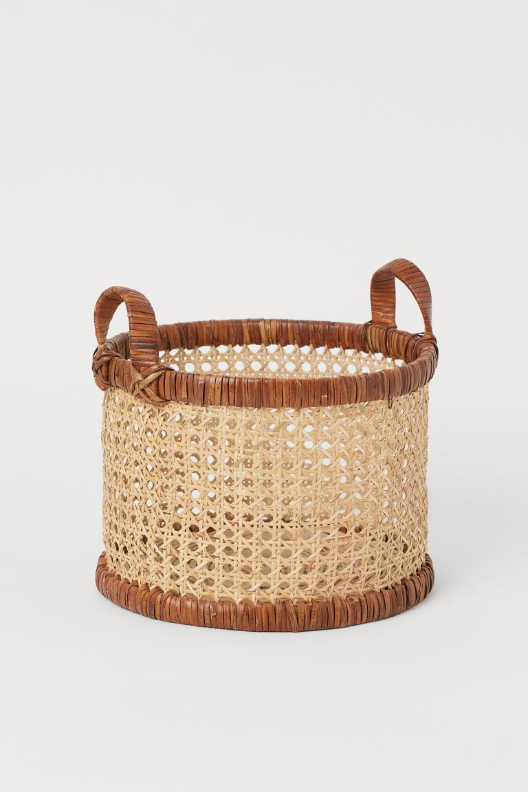 Small rattan basket - Brown - Home All | H&M GB