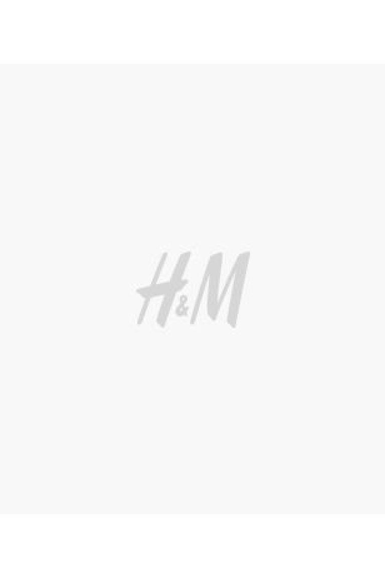 V-neck T-shirt Slim Fit - Khaki green/Narrow-striped - Men | H&M GB