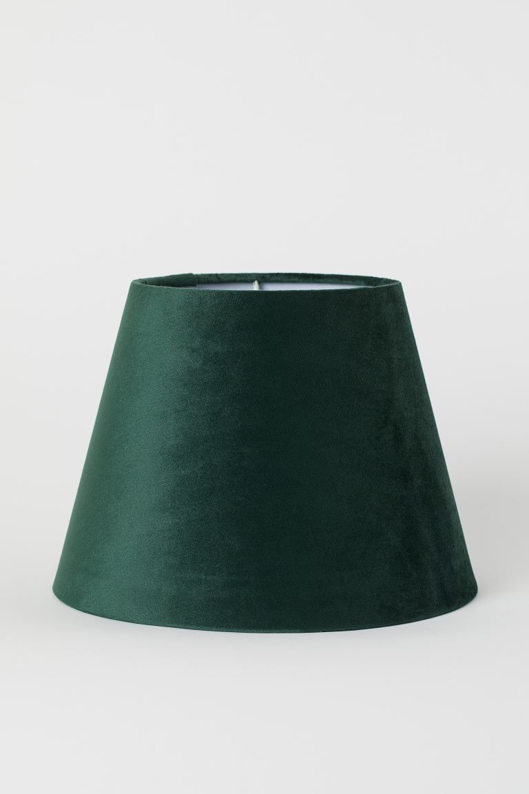 Velvet Lamp Shade Dark Green H M Gb