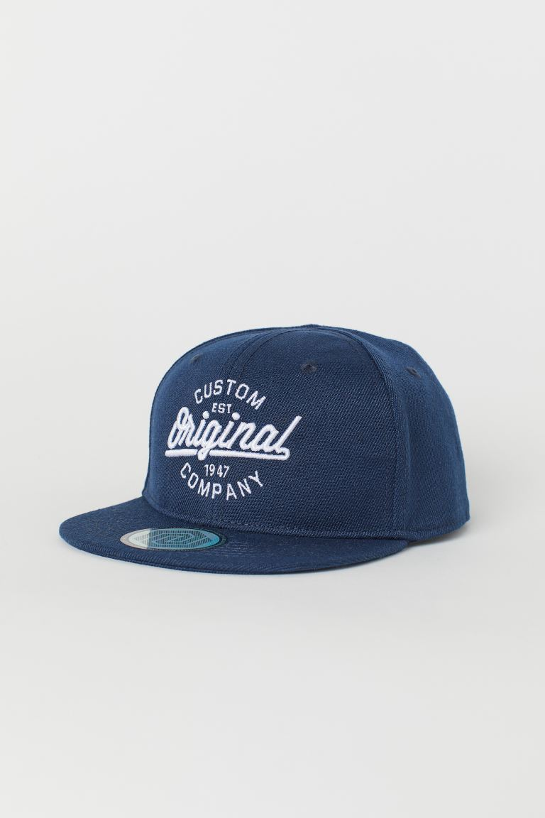 Cap with a motif - Dark blue/Original -  | H&M