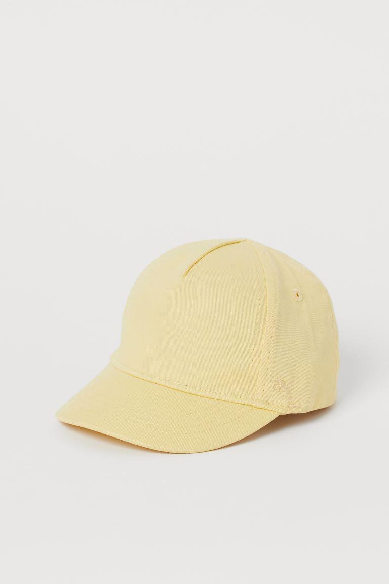 Cotton cap - Light yellow - Kids   H&M GB