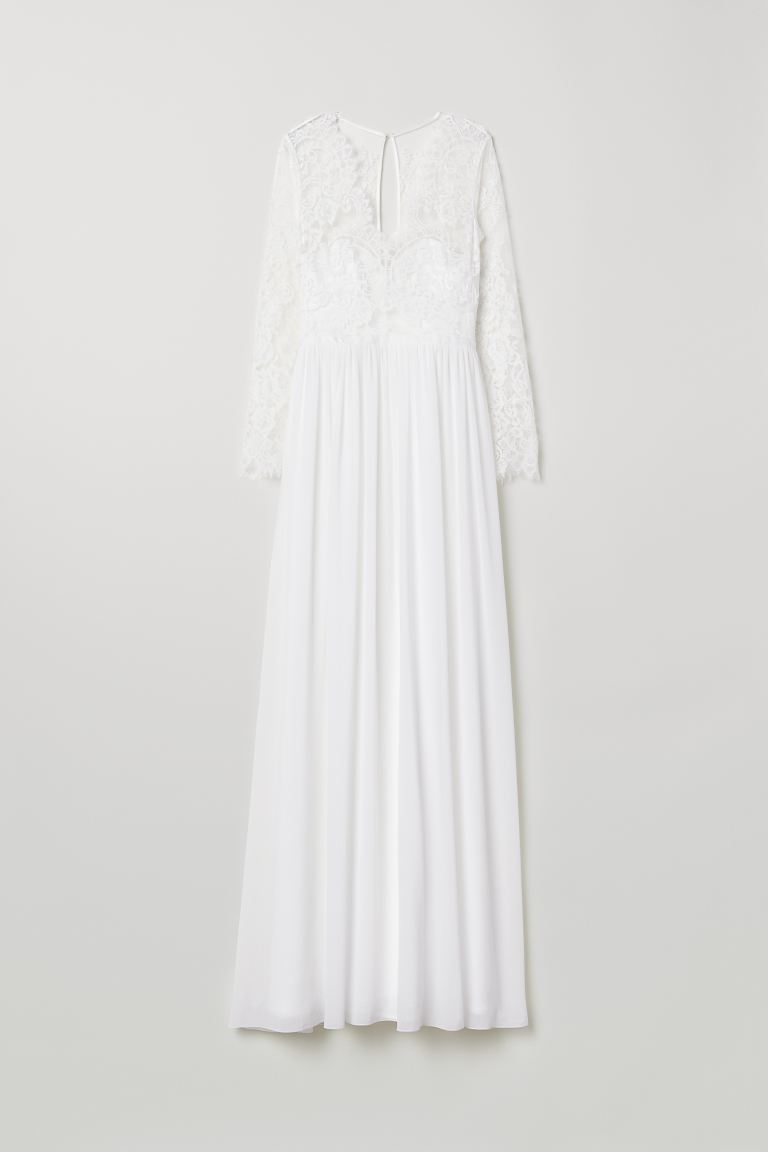 Lace wedding dress - Cream - Ladies | H&M GB