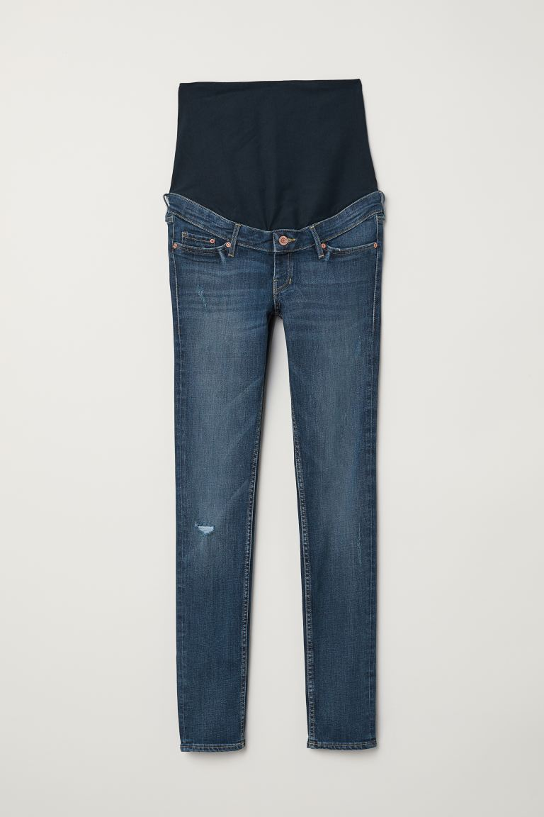 MAMA Skinny Jeans - Donkerblauw - DAMES | H&M BE